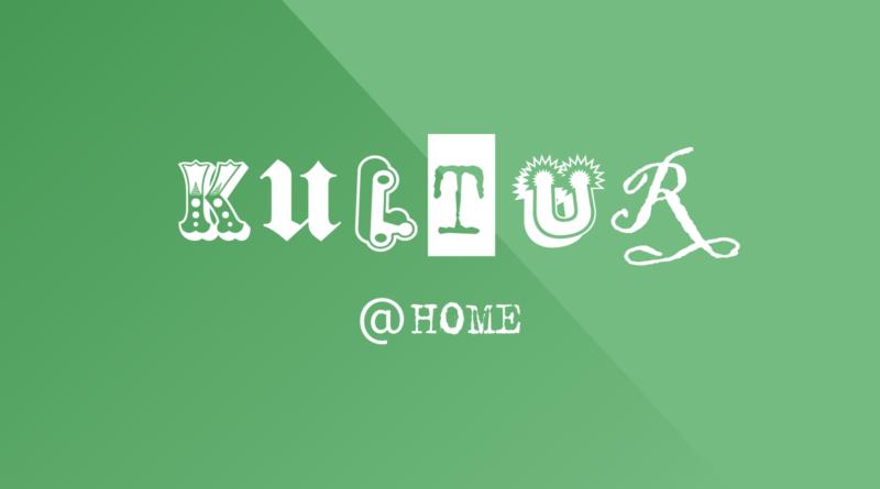 Schriftzug aus verschiedenen Buchstaben: Kultur@home