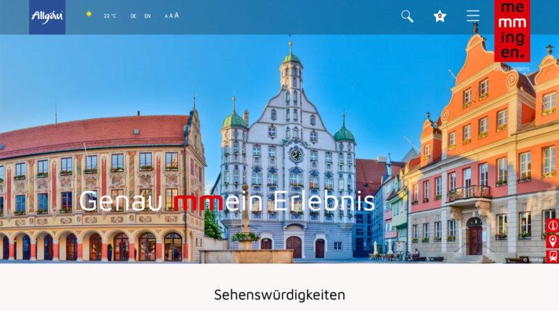 Screenshot der neuen Tourismus-Website